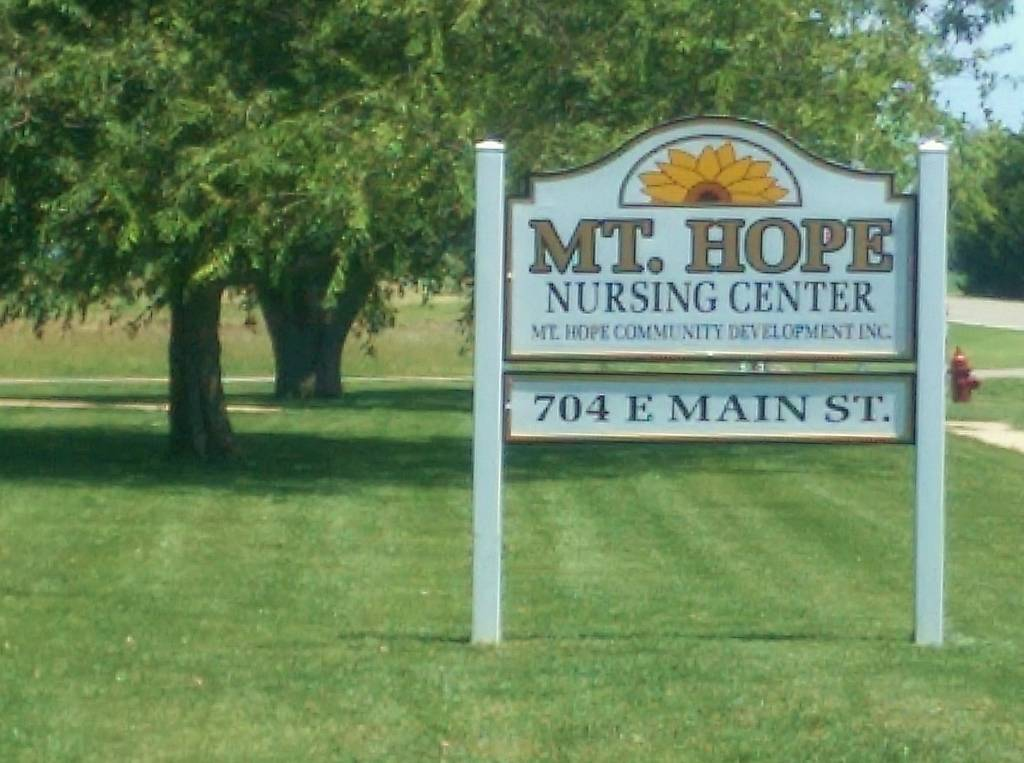 Our story Mt. Hope Nursing Center sign