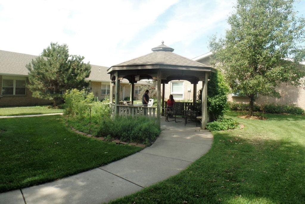 outdoor gazebo at the Nursing Center