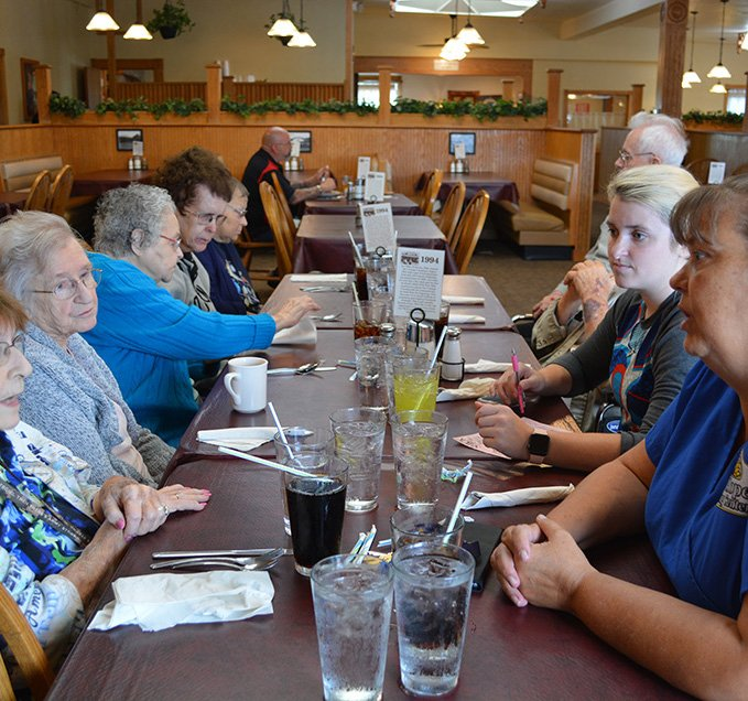 mount hope residents enjoying a meal out on the town