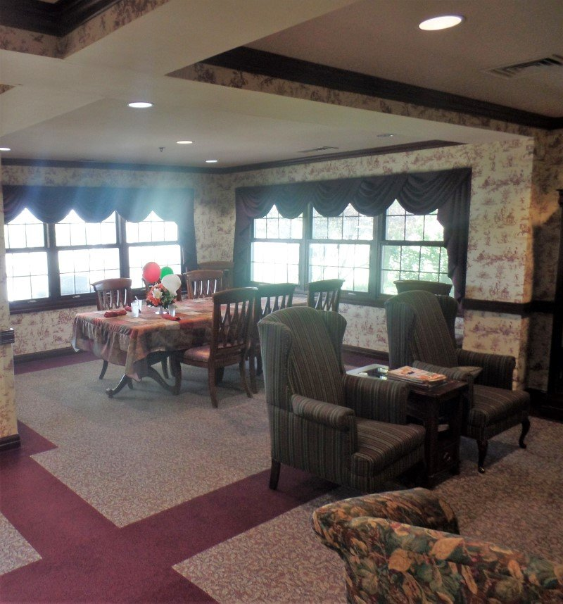 Dining room at Mount Hope Nursing Center where Larson Apartments provide independent living options for seniors