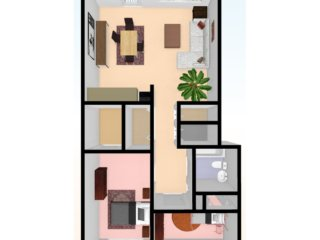 two_bed_3D_top_view