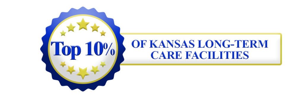 Top 10 seal banner 1024x332 - Mount Hope: Rated in Top 10% of all Kansas nursing homes