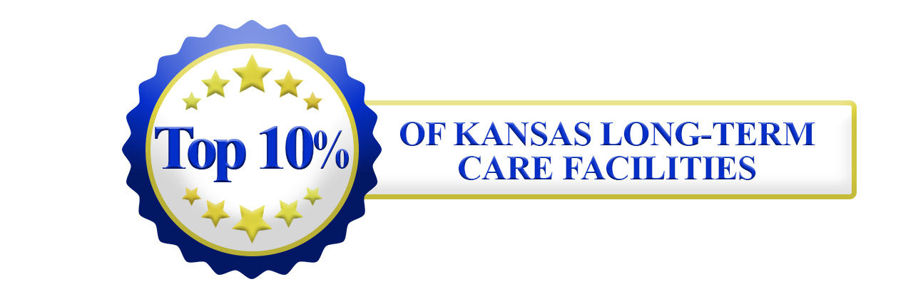 Top 10 seal banner 1294x420 - Mount Hope: Rated in Top 10% of all Kansas nursing homes