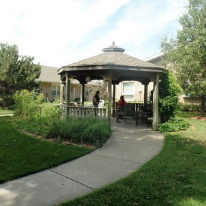 outdoor gazebo at the Nursing Center