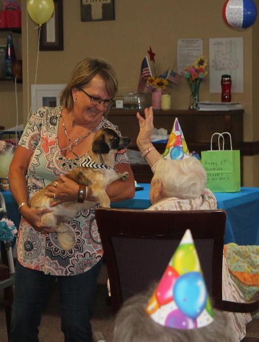 Gina Jasper hand raised - Happy Birthday To Me!