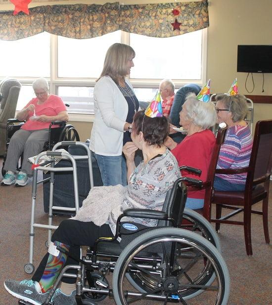 Nursing Home Residents cake - Happy Birthday To Me!