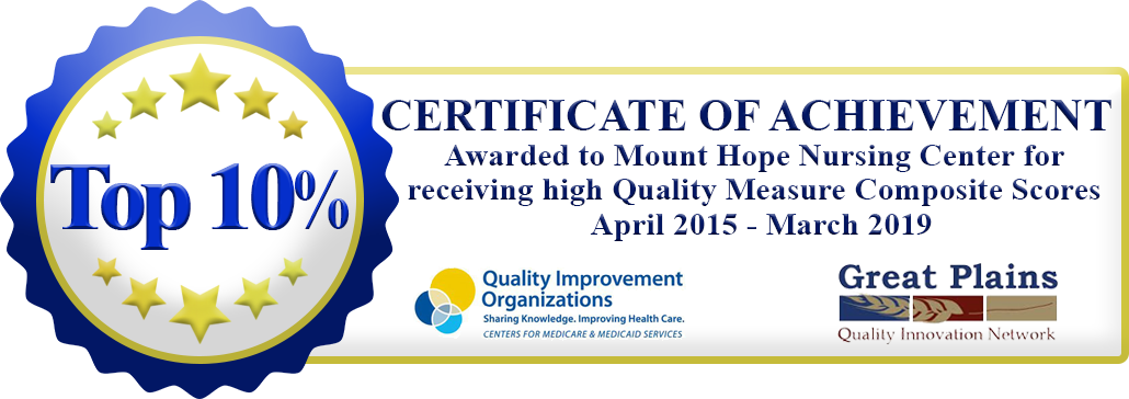 Quality Measures seal banner 2 - Mount Hope Nursing Home