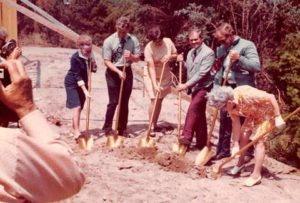 Photo of founders of Mount Hope Nursing Center in 1973 of groundbreaking of our nursing home facility in Mt Hope, Kansas