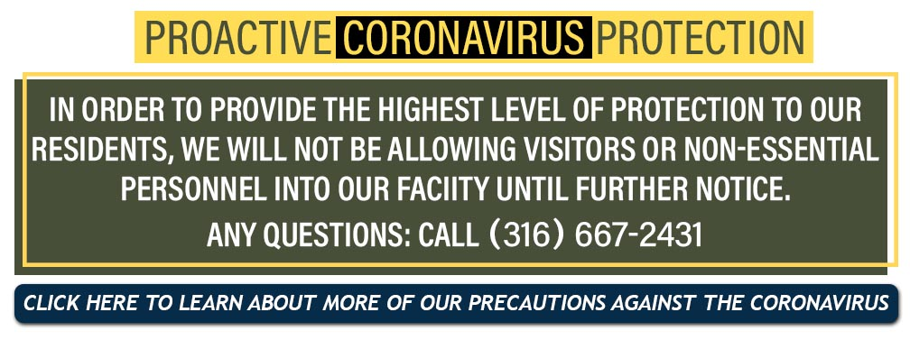 Coronovirus Button NoVisitors - Mount Hope Nursing Home