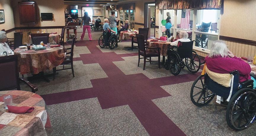 Dining space at Mt Hope Nursing Center